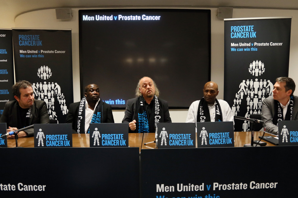 L-R: David Kurk, Gladstone Small, Bill Bailey, Luther Blissett, Owen Sharp (Chief Executive of Prostate Cancer UK)