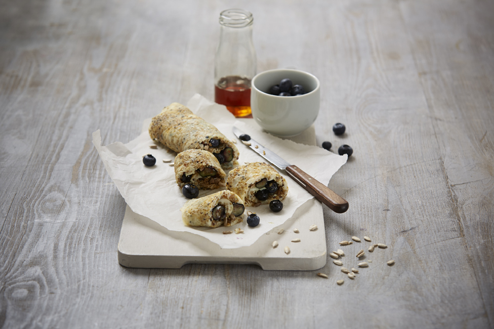 Quinoa, Blueberry and Maple Roll-Up