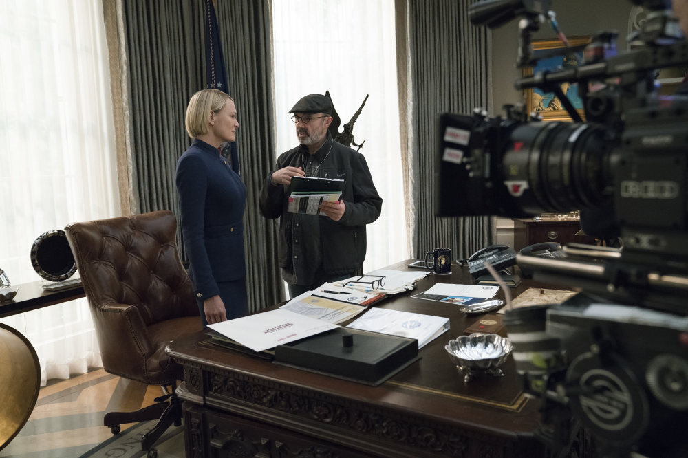 Robin Wright films House of Cards season 6 / Credit: Netflix