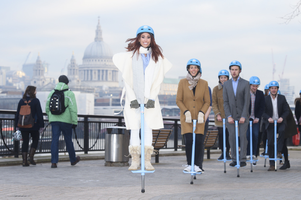 Stacey leads a Pogo Jump through London