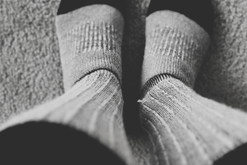 Pictures of girls wearing dirty socks for the