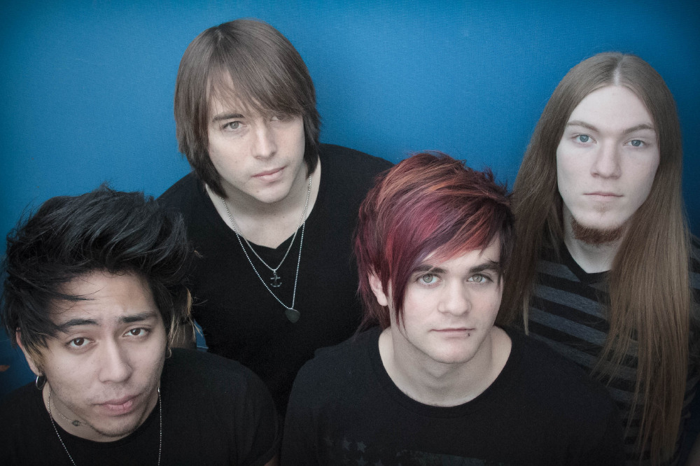 Symmetry are Michael Campbell (vocals), Jared Hara (guitar), Will Weiner (bass) and Max D'Anda (drums)