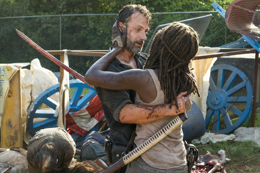 Rick and Michonne enjoyed one another's company