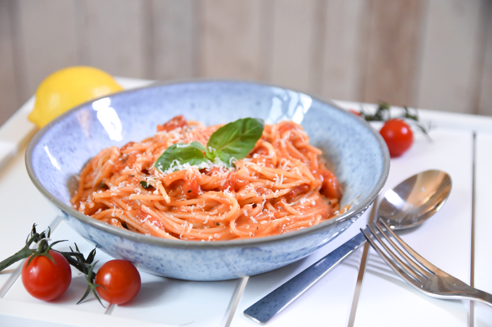 Coconut Infused Tomato And Basil Pasta
