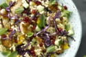 Smokey Tofu Tabbouleh with red cabbage