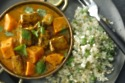 Sweet Potato and Tofu Curry with Cauli Rice