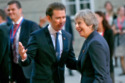 Austrian Chancellor Sebastian Kurz with UK Prime Minister Theresa May / Photo Credit: babirad/FAMOUS