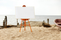 Beach-themed art can bring calm into a home