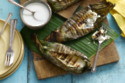 Grilled Sweet Sticky Rice And Banana Parcels