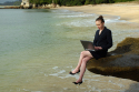 Brits contact work during holiday