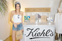 Kendall Jenner shows off festival style at the Khiels pop-up at Coachella