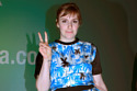 Lena Dunham stands out in the palm print
