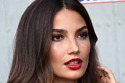 Lily Aldridge makes a statement with a bold red pout