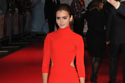 Lily Collins looks sleek in her red dress