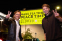 Peace One Day founder, Jeremy Gilley and radio presenter and host Roman Kemp, unveil Lipton and Peace One Day's message