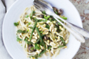 Vegan Creamy Pasta With Asparagus & Toasted Walnuts