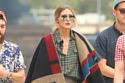 Olivia Palermo pairs her over-the-knee boots with her Burberry personalised poncho