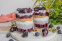 Vegan Peanut Butter & Jelly Chia Pudding Parfaits
