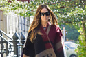 Sarah Jessica Parker looks chic in her Burberry cape