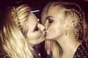 Cara Delevingne Kisses Sienna Miller at Met Ball