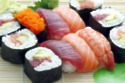 The high content of Omega 3 essential fats of the fish in sushi, helps with memory