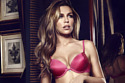 Abbey Clancy models the lingerie for Breast Cancer Awareness Month