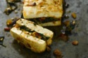 Whole baked Tofu with Spinach and Almonds
