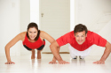 Working out together may be beneficial to your waist line