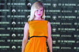 Alice Eve looks beautiful in the bright colour