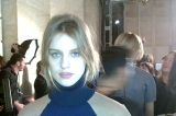 Backstage at the Victoria Beckham showcase