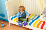 Child playing on a tablet