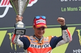 Repsol Honda's Dani Pedrosa Takes Flag In France