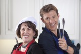 Edwina Currie and Ben Shephard