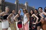 Elle Macpherson with the contestants in Dubai