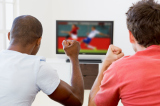 Men watching football