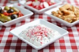 Healthy Snacks: Greek Style Radish and Mint Dip