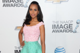 Kerry Washington looks stunning in Oscar de la Renta