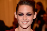 Kristen Stewart chose a bold burgundy eye to match her Stella McCartney outfit