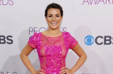 Lea Michele looks beautiful in bright pink Elie Saab