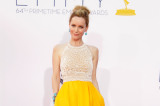 Leslie Mann chose a colour of the night, yellow