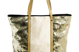River Island Sequin Panel Beach Tote Bag
