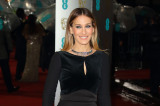 Sarah Jessica Parker opted for a sleek look in  Elie Saab and kept her hair simple