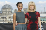 Zoe Saldana and Alice Eve at the photocall in Germany