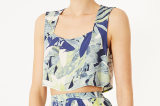 Topshop Leaf Print Crop Top