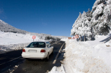 Winter car travel can be unpredictable