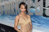 Zoe Saldana shows off her incredibly toned body in the dress