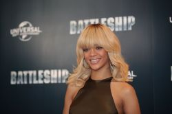 Rihanna At Battleship Press Conference