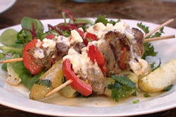 Peter Gordon's delicious summer BBQ lamb and red pepper kebabs