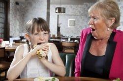Children's etiquette whilst eating