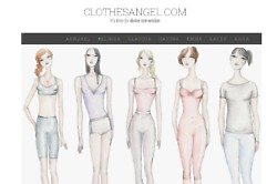 The site promises to help you find flattering clothes